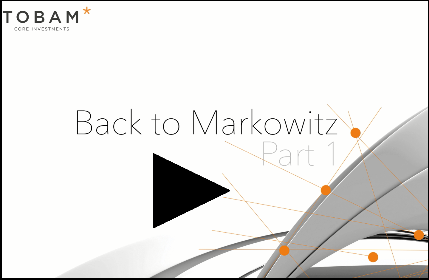 Back To Markowitz - Part 1 - V2